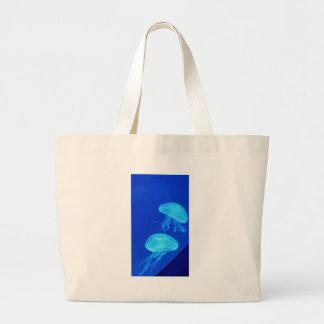 Jellyfish North Carolina Aquarium Large Tote Bag