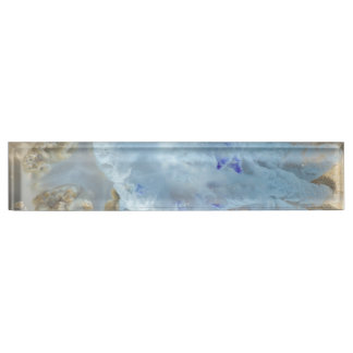 Jellyfish on the beach name plate