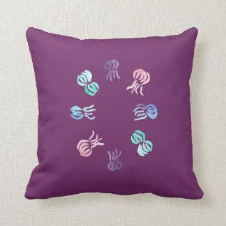 Jellyfish Polyester Throw Pillow 16'' x 16''