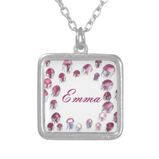 Jellyfish School Silver Plated Necklace