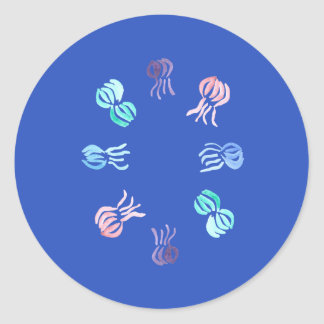 Jellyfish Small Glossy Round Sticker