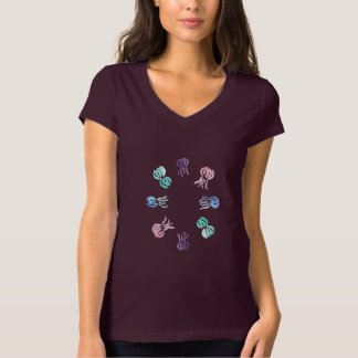 Jellyfish Women's Jersey V-Neck T-Shirt
