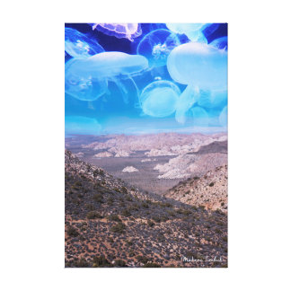Jellyfish World Canvas Print