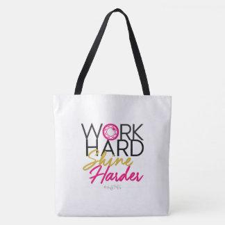 JEM Work Hard Shine Harder Pink Tote Bag
