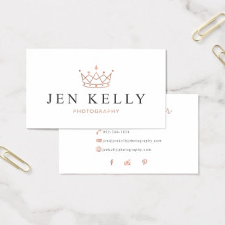 Gold crown business cards zazzlecomau for Crown business cards