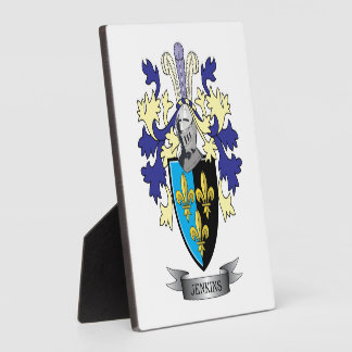 Jenkins Family Crest Coat of Arms Display Plaques