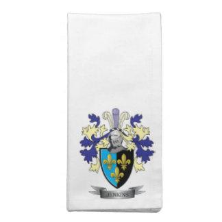 Jenkins Family Crest Coat of Arms Napkin