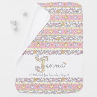 Jenna name meaning heart flower girl baby blanket