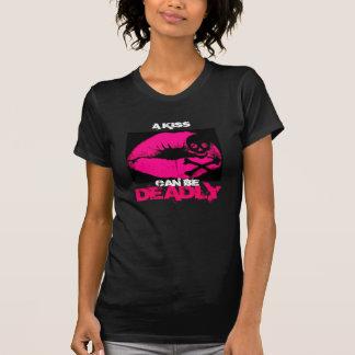 Jenna Star Deadly Kiss V-Neck T-Shirt