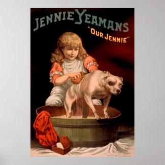 Jennie Yeamans Vintage Poster