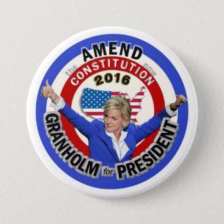 Jennifer Granholm for President 2016 7.5 Cm Round Badge