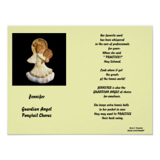 JENNIFER-GUARDIAN ANGEL PONYTAIL CHORUS POSTER