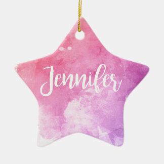 Jennifer Name Ceramic Star Decoration