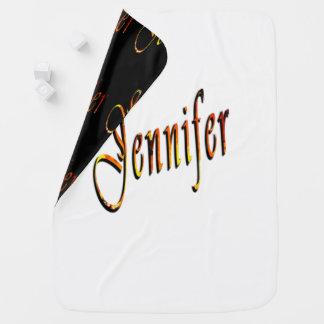 Jennifer Name, Logo Snugly Reversible Baby Blanket