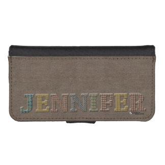 Jennifer Wallet Cellphone Case   Oxford Tweed
