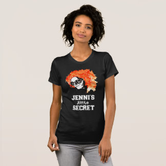"""Jenni's Little Secret"" Redhead Lettered Dark T-Shirt"