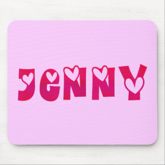Jenny in Hearts Mouse Pad