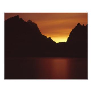 Jenny Lake at Sunet Photo Print