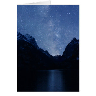 Jenny Lake reflects the Milky Way Card