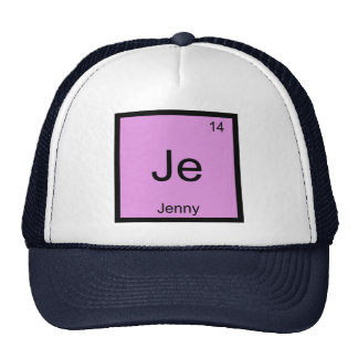 Jenny  Name Chemistry Element Periodic Table Mesh Hat