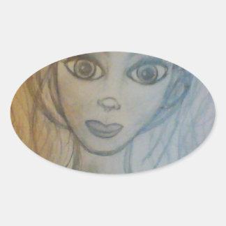 Jenny Oval Sticker