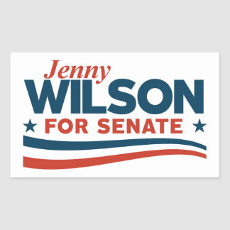 Jenny Wilson for Senate Rectangular Sticker