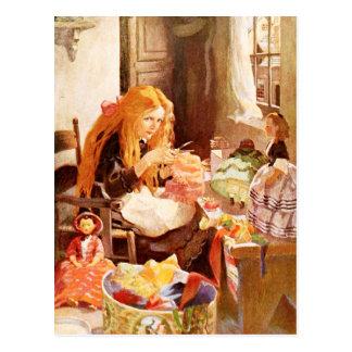 Jenny Wren, the little dolls' dressmaker Postcard