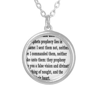 Jer. 14:14 silver plated necklace