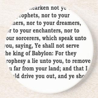 Jer. 27: 9-10 coaster