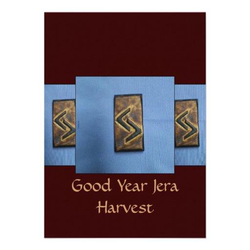 Jera Cedar Wood Rune Harvest/ Good Year Invites