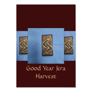 Jera Cedar Wood Rune Harvest/ Good Year 5x7 Paper Invitation Card