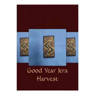 Jera Cedar Wood Rune Harvest Good Year Invites
