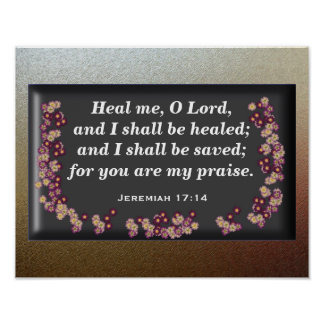 Jeremiah 17:14 poster