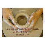 Jeremiah 18:6 - Blank Inside Note Card