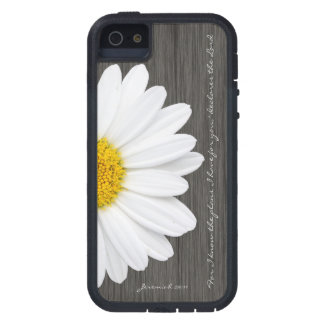Jeremiah 29:11 Bible Verse, Rustic Daisy Cover For iPhone 5