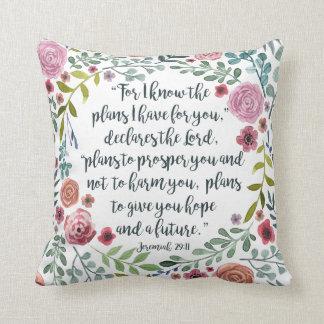 Jeremiah 29:11 cushion
