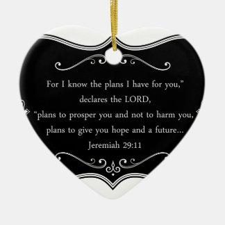 Jeremiah 29:11 Custom Christian Gift Ceramic Ornament
