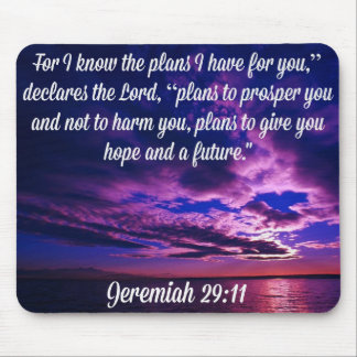 Jeremiah 29:11 God's Glory Products Mouse Pad