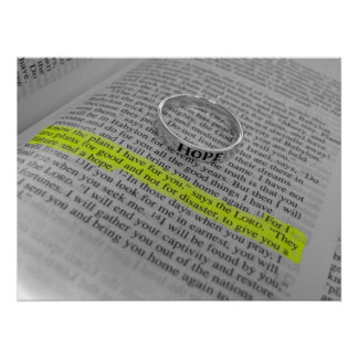 Jeremiah 29:11 - Hope Poster