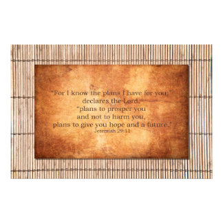 Jeremiah 29:11 I know the plans I have for you Photo Print