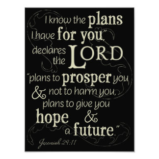 Jeremiah 29:11 I know the plans I have for you... Photo Print