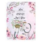 Jeremiah 29:11 Inspirational Bicycle Postcard