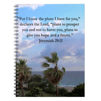 JEREMIAH 29:11 INSPIRATIONAL VERSE NOTEBOOKS