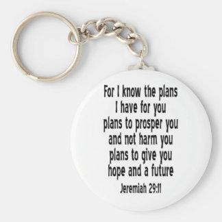 Jeremiah 29:11 key ring