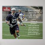 Jeremiah 29:11 Lacrosse Poster