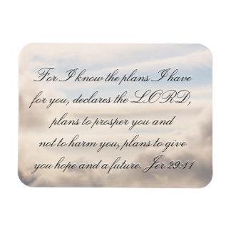 Jeremiah 29:11 rectangular photo magnet