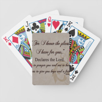 Jeremiah 29:11 Scripture Gift Bicycle Playing Cards