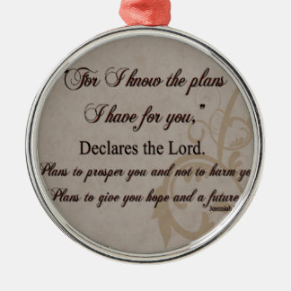 Jeremiah 29:11 Scripture Gift Silver-Colored Round Decoration