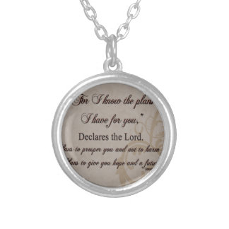 Jeremiah 29:11 Scripture Gift Silver Plated Necklace