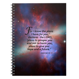 Jeremiah 29:11 spiral notebook